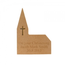 Personalised Engraved Freestanding Church (18mm)