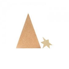 Primitive Christmas Tree with 6mm 3D Sloppy Star (18mm + 6mm)