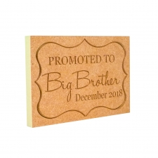 Promoted to... Engraved Plaque (18mm)