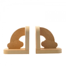 Rainbow with Clouds Bookends (18mm)