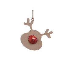 Reindeer Head Lindor Bauble (3mm)