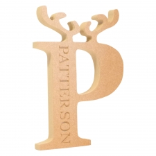 Reindeer Letter, Antler Design (18mm)