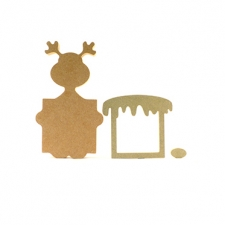 Rudolph Christmas Countdown Board (18mm)