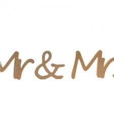 Segoe Font, Mr & Mrs, 3 Pieces (18mm)