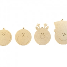 Set of 4 Festive Friends Danglies (6mm)