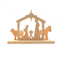 Simple Nativity Scene with Stand (18mm)