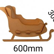 Sleigh, Slot together design, Large (6mm)