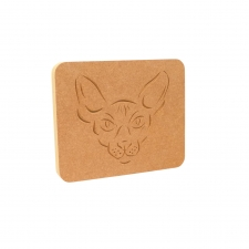 Sphynx Cat Face Plaque (18mm)