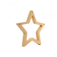 Star Outline with Pre-drilled holes (18mm)