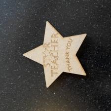 Star Teacher Thank You Star (3mm)