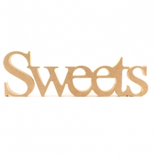 Sweets, joined word, Times New Roman Font (18mm)