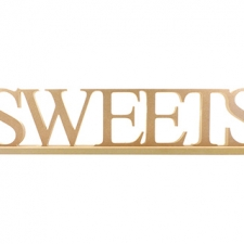 SWEETS (with stand), joined word, Times New Roman Font (18mm)