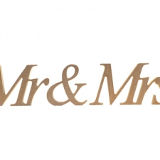 Times New Roman Italic Font, Mr & Mrs (3 pieces) (18mm)