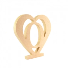 Upright heart with number inside (18mm)
