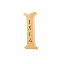 Victorian Font, Engraved Freestanding Individual Letter (18mm)