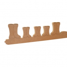 Wellies on a Puddle Plinth, Plain Version (18mm)