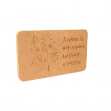 Westie Dog Plaque (18mm)