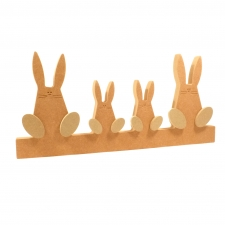 Wonky Bunny Family on Plinth (18mm)