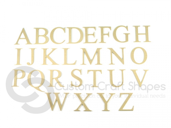 Times New Roman Font Capital Letters (6mm)