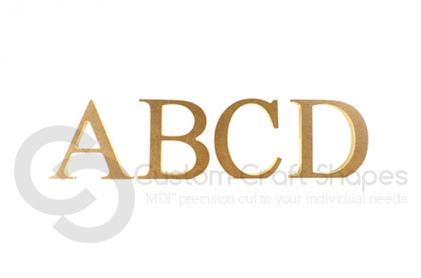 Times New Roman Font Individual Freestanding Letters (18mm)