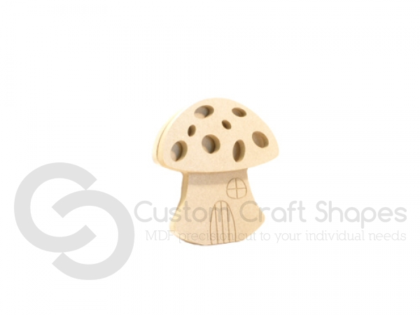 Toadstool house shape, 2 pieces (6mm)