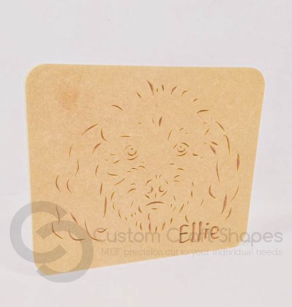 Toy Poodle Dog Plaque (18mm)