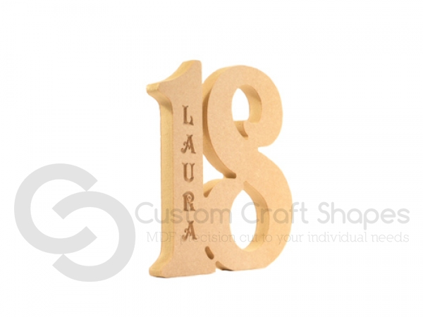 Number with Name Engraved (18mm)