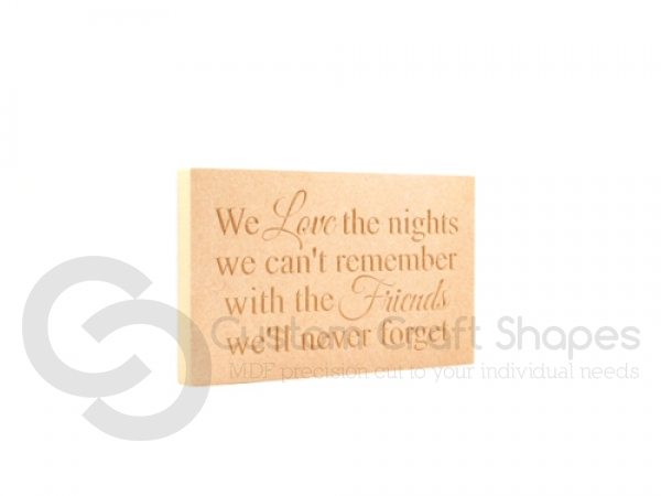 We love the nights... Engraved plaque (18mm)