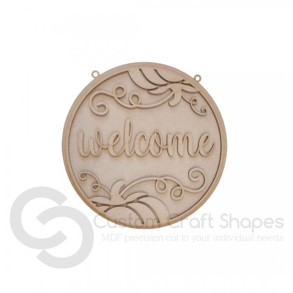Welcome (pumpkin) Sign (3mm)