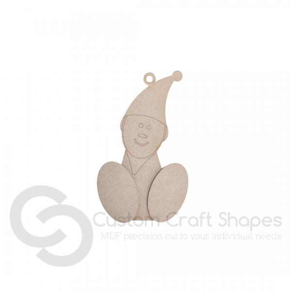 Wonky Elf Tree Decoration (3mm)