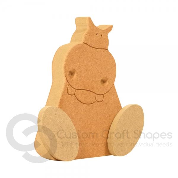 Wonky Hippo (18mm)