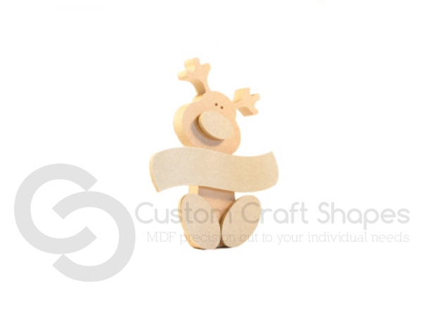 Wonky Rudolph with Sign (18mm)