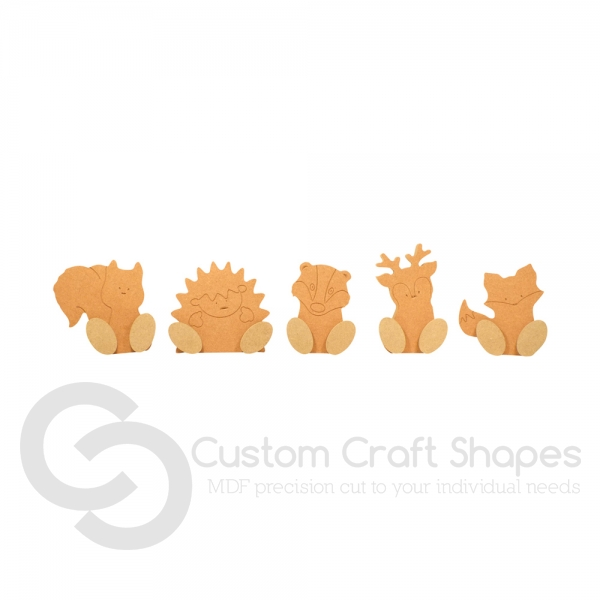 Wonky Woodland Animals Set of 5 (18mm)