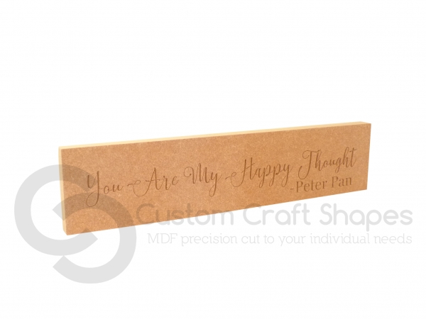 You Are My Happy Thought, Engraved Plaque (18mm)