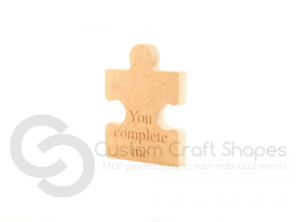 You Complete Me, Engraved Jigsaw Piece (18mm)